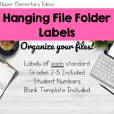 Hanging File Folder Labels {Customizable}