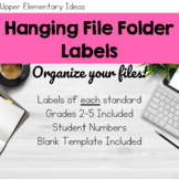 Hanging File Folder Labels {Customizable}