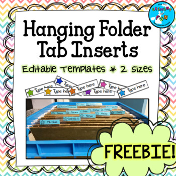 photo about Printable Hanging File Folder Tab Inserts named Striking History Folder Tab Inserts - Editable FREEBIE!