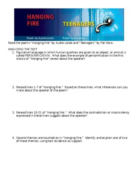 Hanging Fire & Teenagers Comprehensive Study Guide