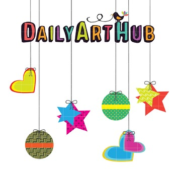 Hanging Objects Clip Art - Great for Art Class Projects!