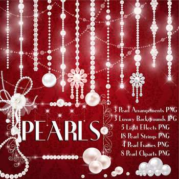 Hanging Pearl Chain Pearl String Pearl Strand Pearl Clip Arts Pearl Brooch