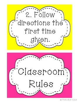 Hanging Set of Classroom Rules
