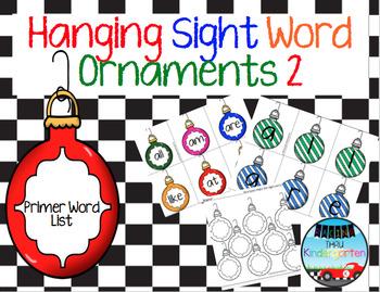 Hanging Sight Word Ornaments BUNDLE