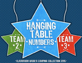 Hanging Table Numbers: Camping Collection 2015