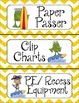 Hanging Ten Helpers -Surf Themed Classroom Job Chart - Editable