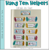 Hanging Ten Helpers -Surf Themed Classroom Job Chart - Editable