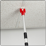 Hanging banner ceiling installation pole