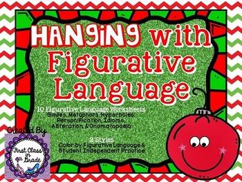 Hanging with Figurative Language (Christmas Literary Device Unit)