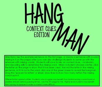 Hangman: Context Clues Edition
