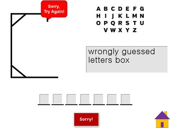 Hangman Interactive Power Point Game