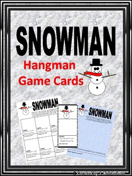 Hangman SNOWMAN Word Game