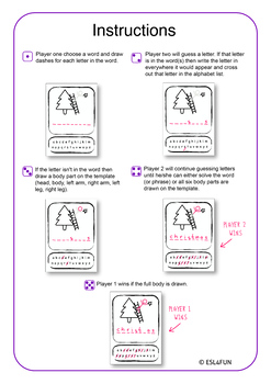 hangman templates 8 different designs by esl4fun tpt