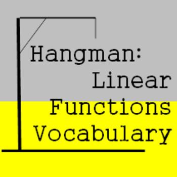 Hangman Vocabulary - Review of Linear Equation Vocabulary