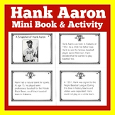 Hank Aaron |  Baseball | Worksheet Activity | 1st 2nd 3rd