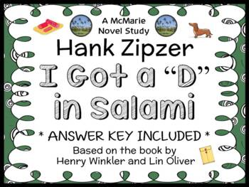 """Hank Zipzer: I Got a """"D"""" in Salami (Henry Winkler) Novel Study / Comprehension"""