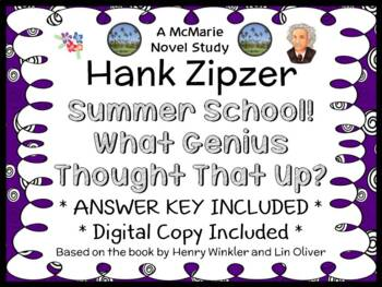 Hank Zipzer: Summer School! What Genius Thought That Up? Novel Study (33 pages)