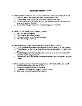 Hank the Cowdog Novel Study Chapter 1