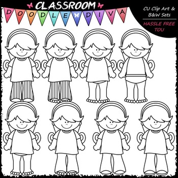 Hannah Gets Dressed Clip Art - Sequence Clip Art & B&W Set