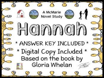 Hannah (Gloria Whelan) Novel Study / Reading Comprehension