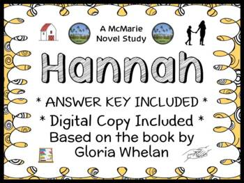 Hannah (Gloria Whelan) Novel Study / Reading Comprehension