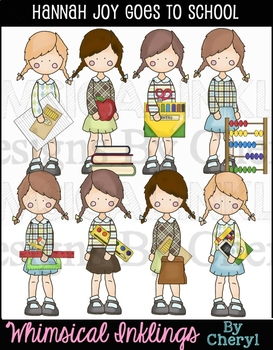 Hannah Joy Goes To School Clipart Collection