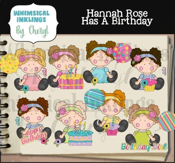 Hannah Rose Has a Birthday Clipart Collection