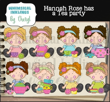 Hannah Rose Has a Tea Party Clipart Collection