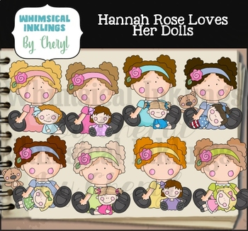 Hannah Rose Loves Her Dolls Clipart Collection
