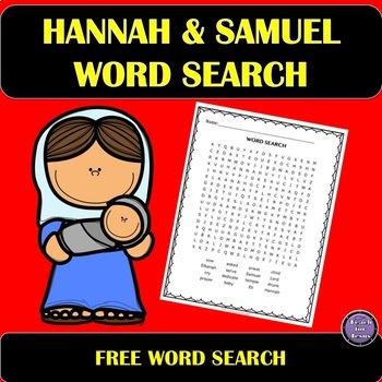 Hannah and Samuel Bible Word Search Freebie