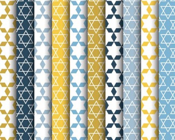 Hannukah Papers, Digital Papers, Hannuka Paper Set #140