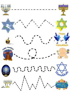 Hannukkah Join the Dots Worksheet