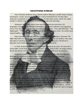 Hans Christian Andersen Bio