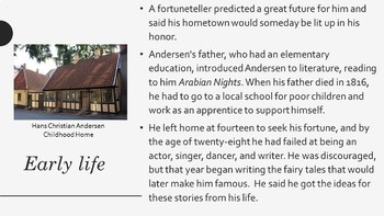 Hans Christian Andersen PowerPoint - A Short Biography