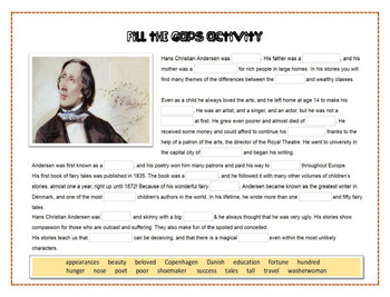 Hans Christian Andersen:Books and characters challenge
