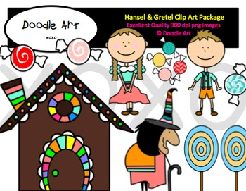 Hansel & Gretel Clipart Pack