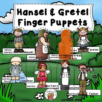 Hansel & Gretel Finger Puppets (for story retelling or active listening)