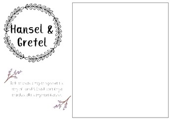 Hansel & Gretel printable template
