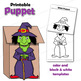 Hansel and Gretel Craft Activity | Printable Paper Bag Puppets