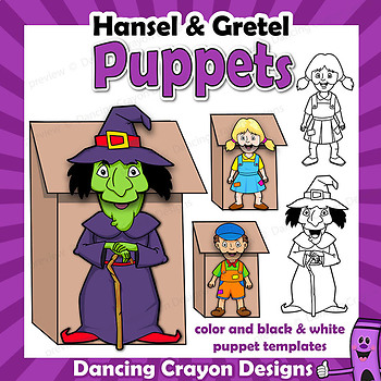 Hansel and Gretel Puppet Craft