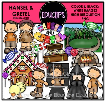 Hansel and Gretel Clip Art Bundle {Educlips Clipart}