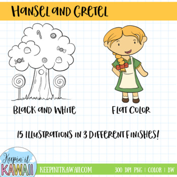 Hansel and Gretel Clip Art Collection