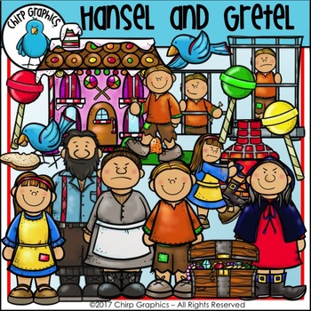 Hansel and Gretel Clip Art Set - Chirp Graphics