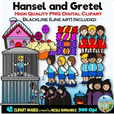 Hansel and Gretel Clip Art for Personal and Commercial Use