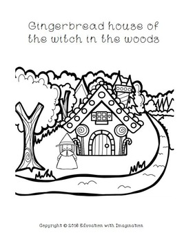 Hansel and Gretel Coloring Book
