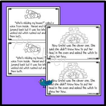 Hansel and Gretel Early Reader w/ Interactive Notebook Foldables & Writing