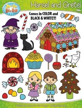 Hansel and Gretel Fairy Tale Clipart {Zip-A-Dee-Doo-Dah Designs}