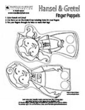 Hansel and Gretel Finger Puppets