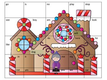 Hansel and Gretel Kindergarten Sight Word Puzzle