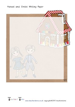 Hansel and Gretel Note Paper